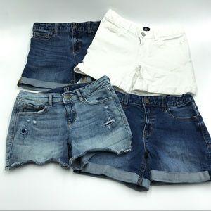 GAP Jean Shorts Bundle of 4 (Girl Size 12)